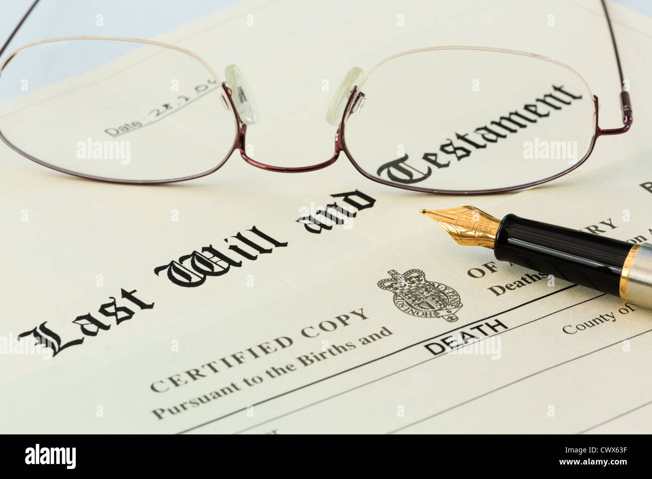 Legal Documents Stock Photos Legal Documents Stock Images Alamy - Will legal document