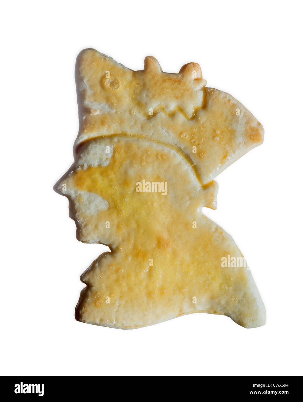 cake cookie in shape of old fritz known as Frederick the Great Frederick II King in Prussia cookie sweet backery - Stock Image