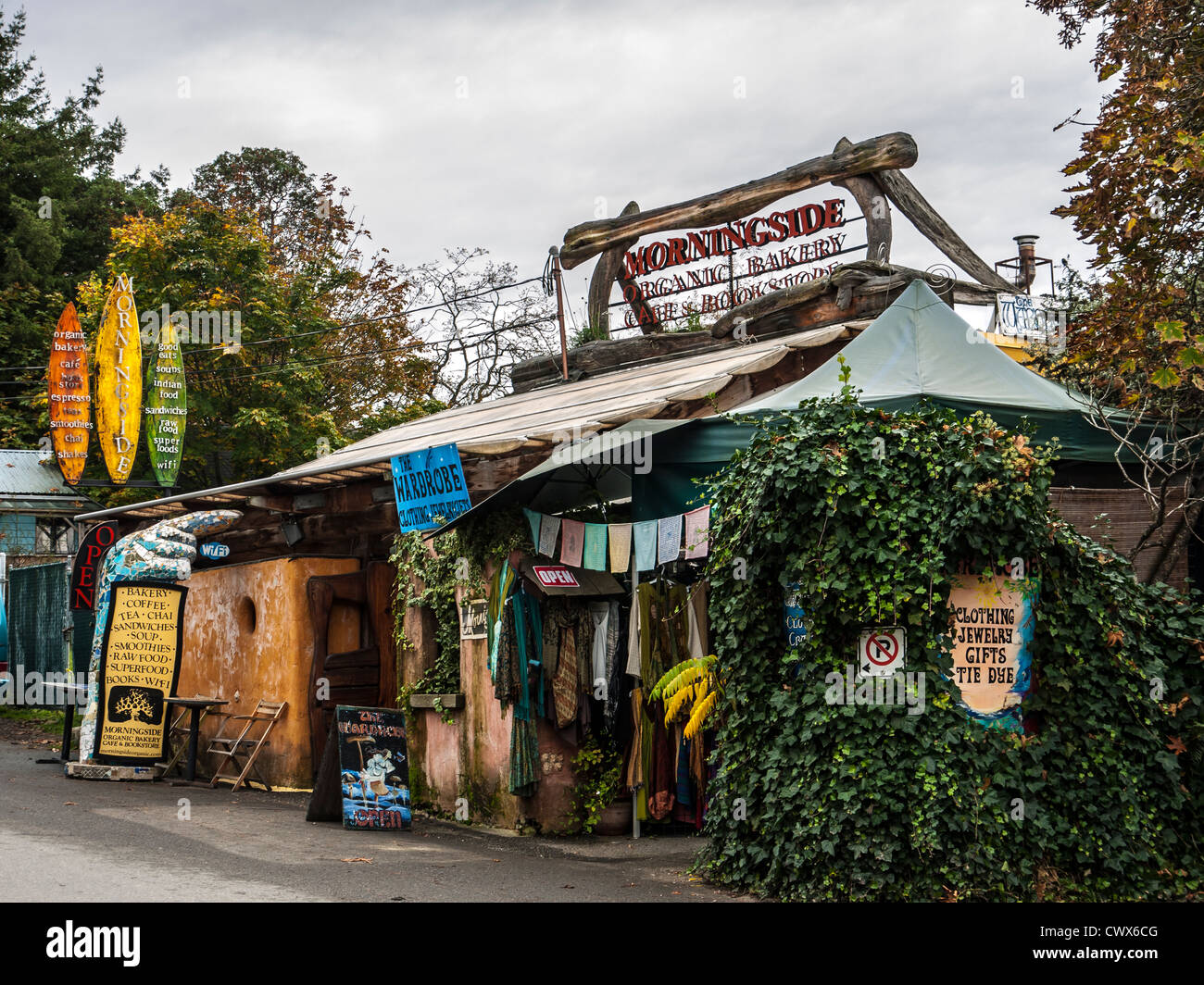 Morningside Organic Bakery, Cafe, Bookstore and Gift shop, Fulford Harbour, Salt Spring Island, British Columbia, - Stock Image