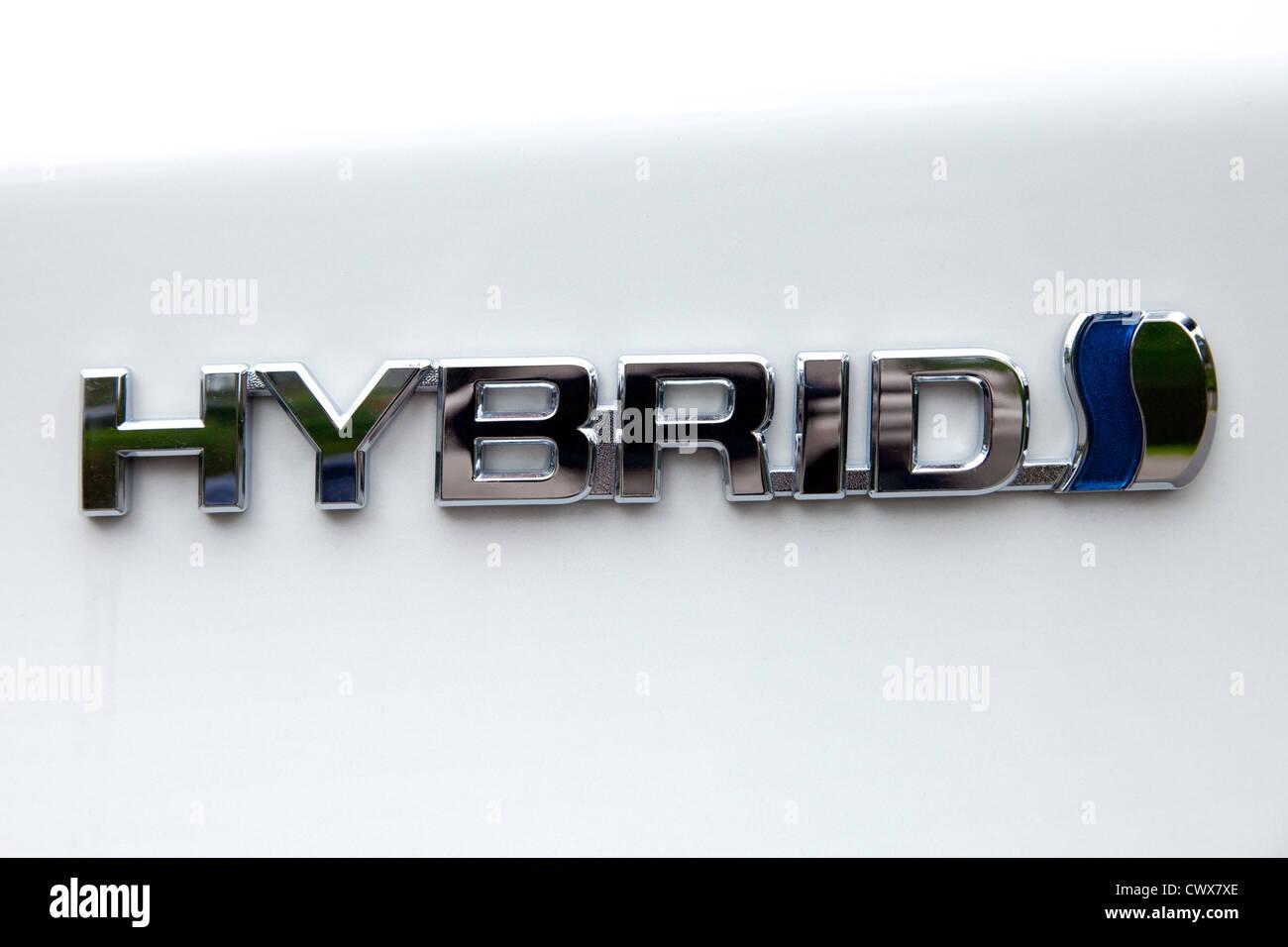 Toyota Prius Hybrid Car (2012) Logo - Stock Image