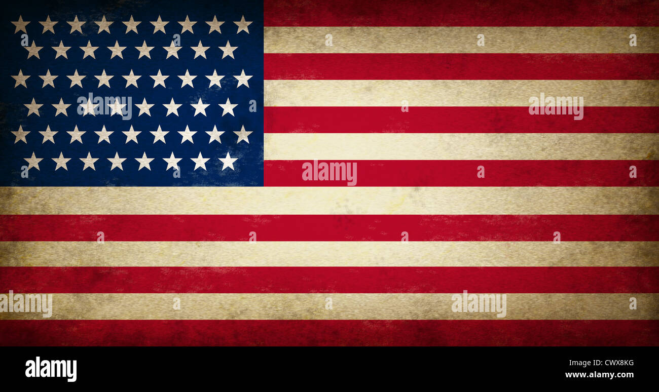 Grunge Usa Flag As An Old Vintage American Symbol Of Patriotism And