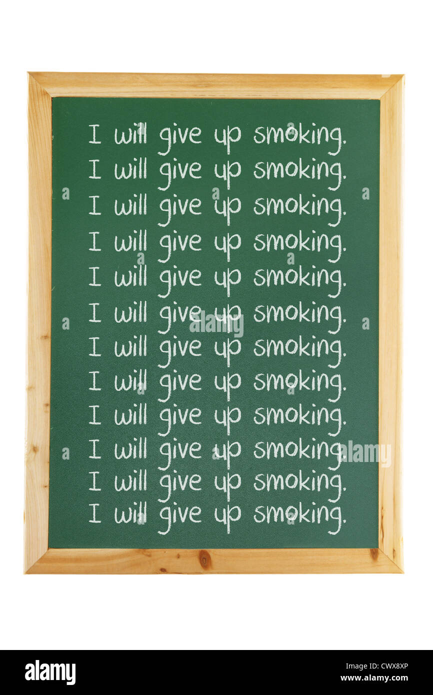 Blackboard with Writings - Stock Image