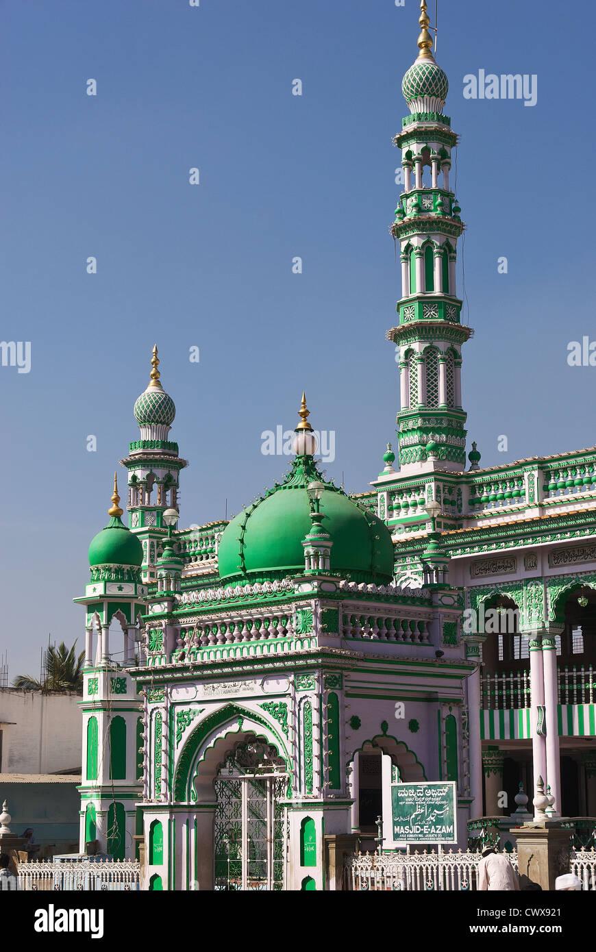 Elk201-2159v India, Karnataka, Mysore, Masjid E Azam mosque - Stock Image