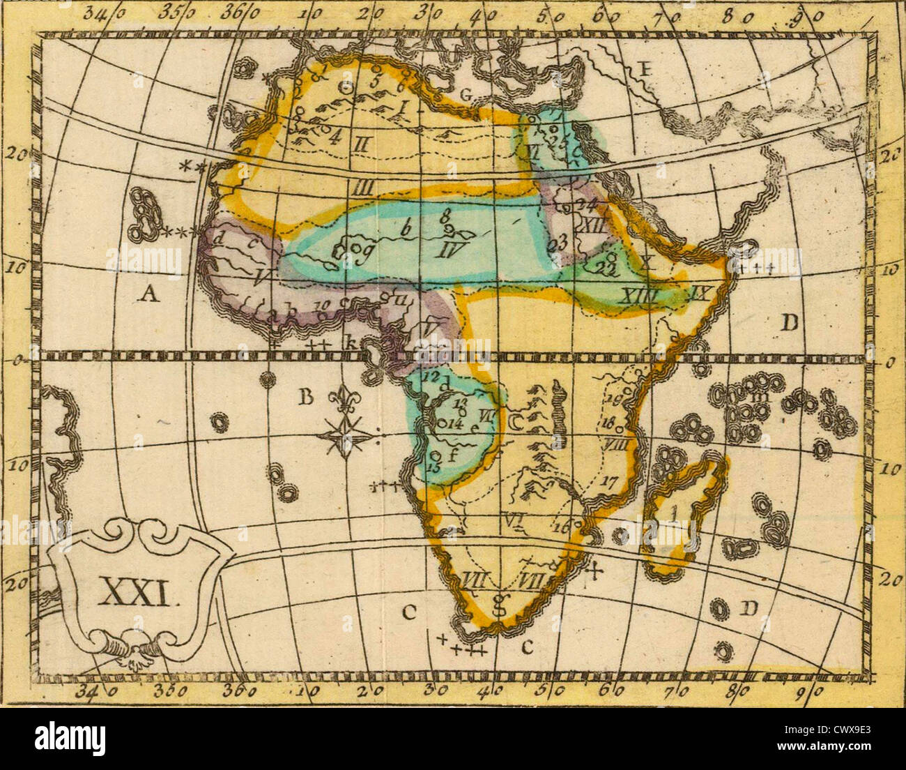 Antique Map Of Africa From The Out Of Print 1841 Goodrich Atlas
