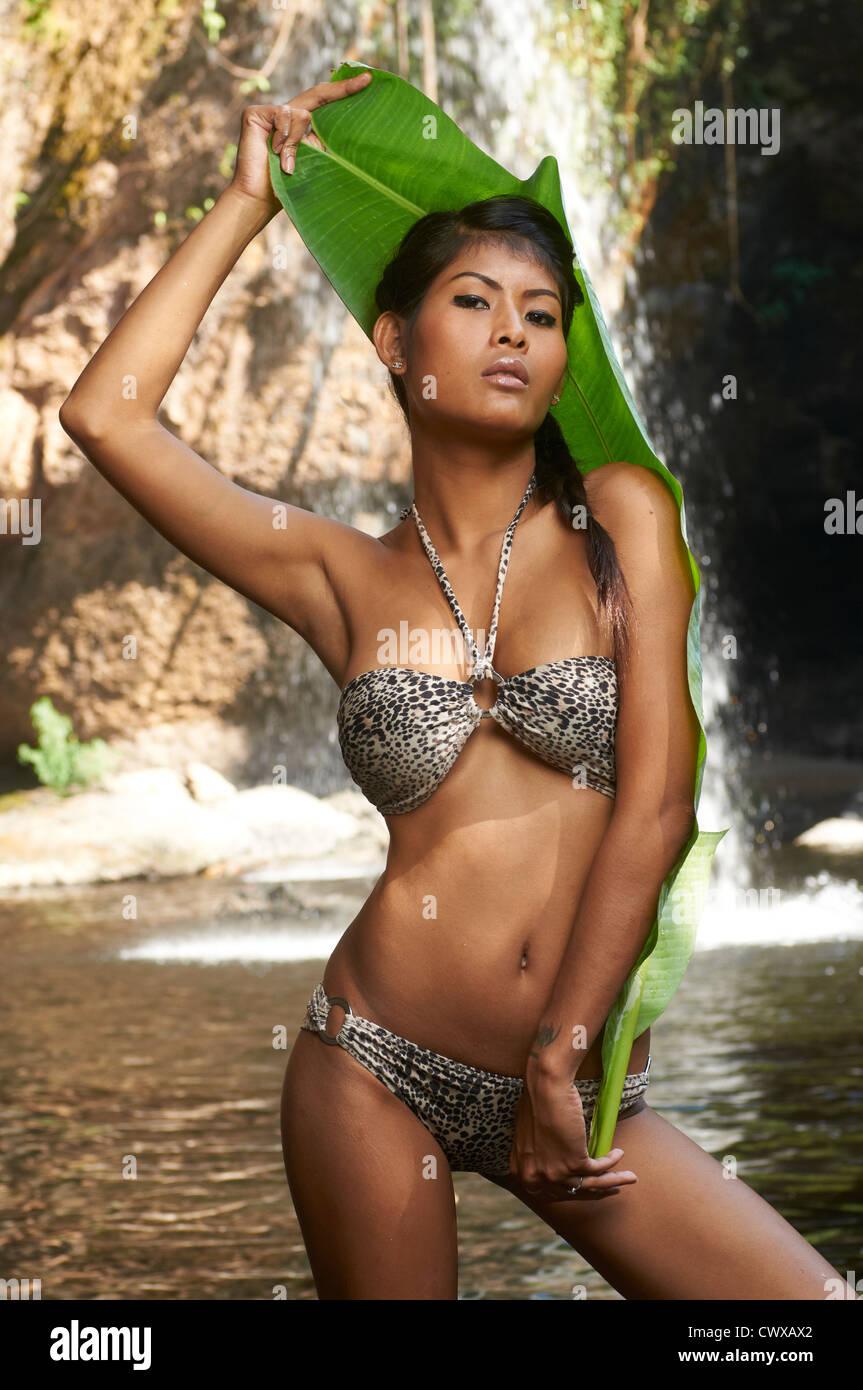 Wearing bikini Model