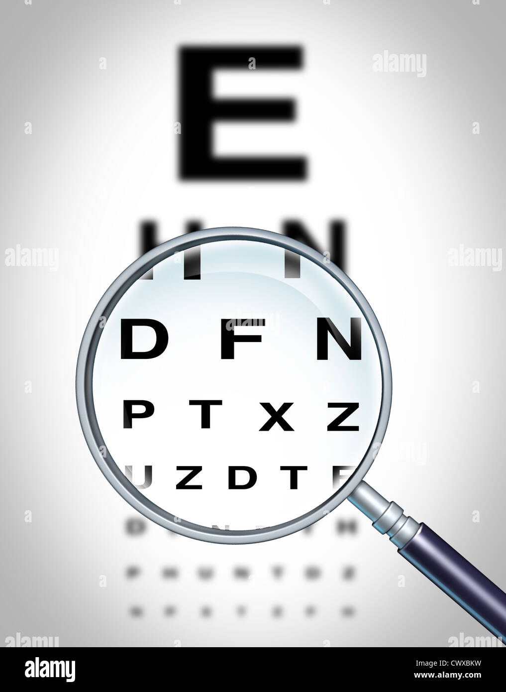 Human Eye Vision Chart And Sight Medical Optometrist Symbol For The