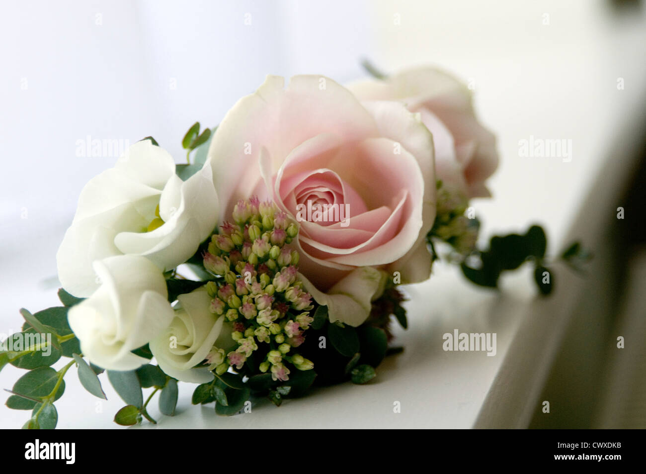 Flower Flowers Wedding Day Florist Florists Rose Roses Button Hole Stock Photo Alamy
