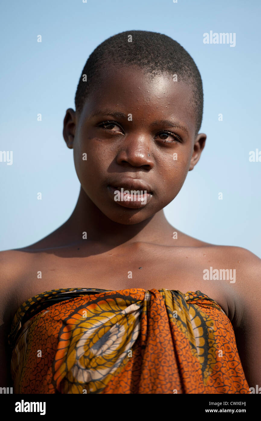 Girl portrait, Rubavu, Rwanda - Stock Image