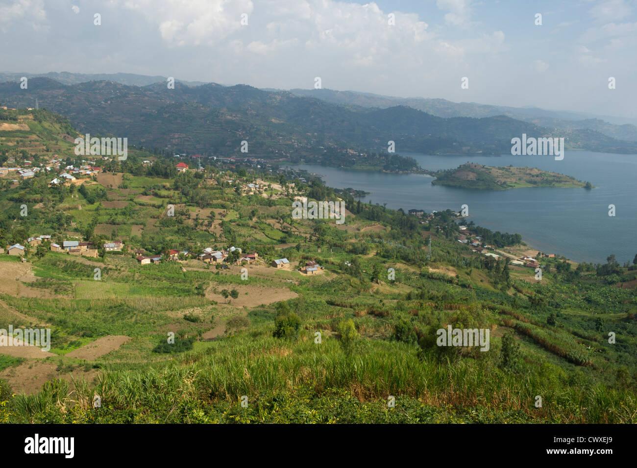 Lake Kivu, Rubavu, Rwanda - Stock Image
