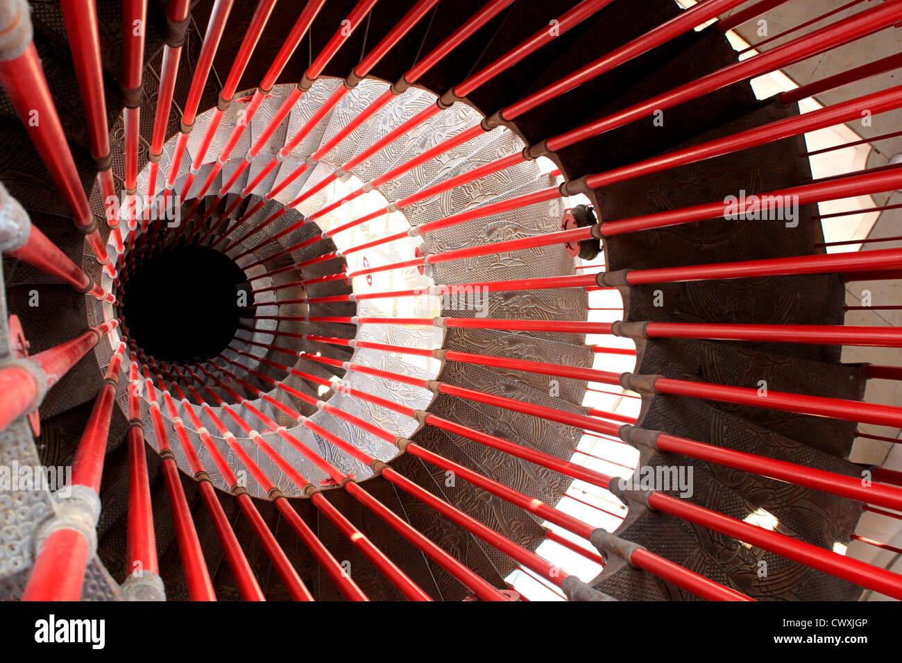 Spiral Staircase, Ljubljana Castle, Ljubljana, Slovenia - Stock Image