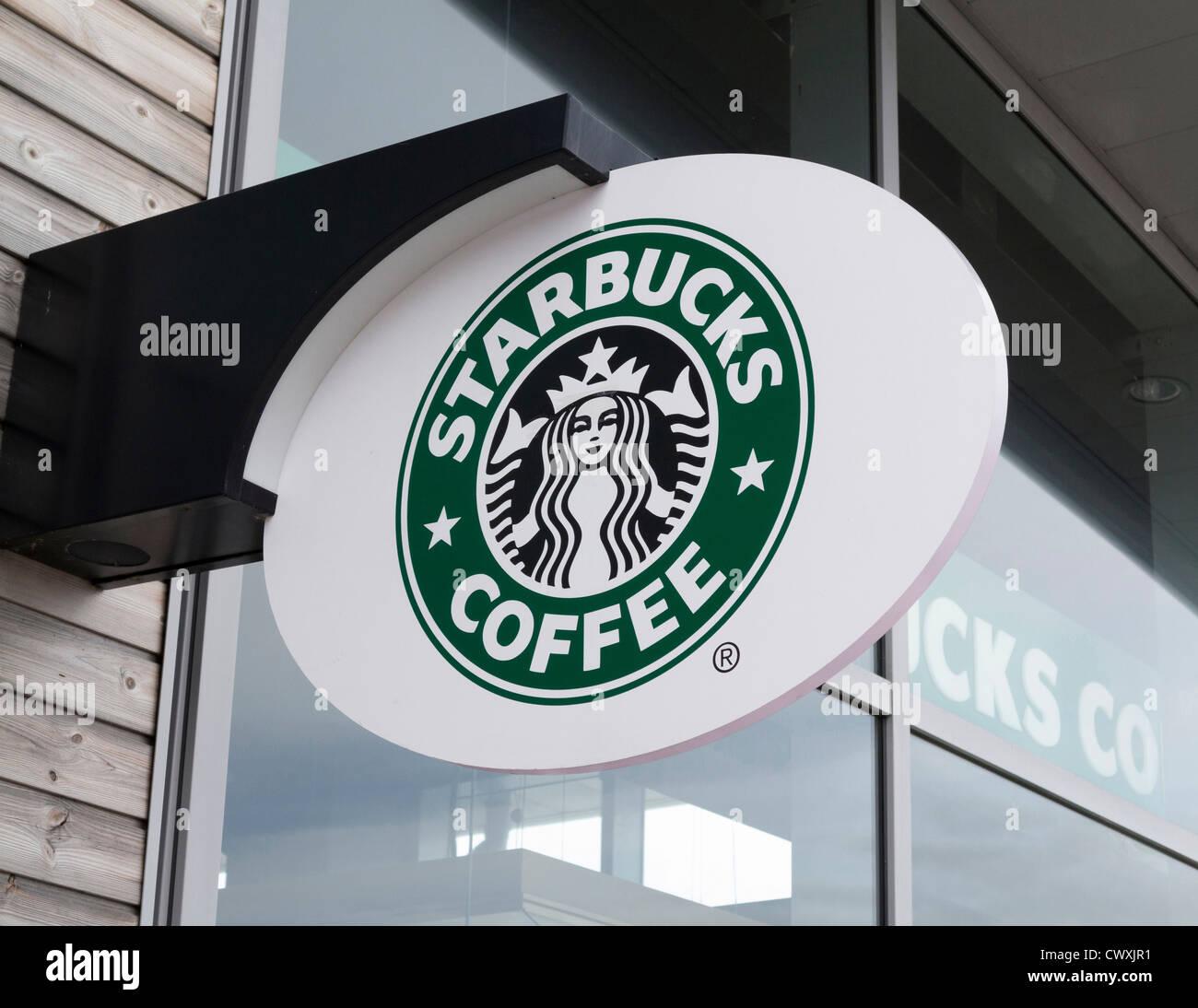 Starbucks sign logo - Stock Image