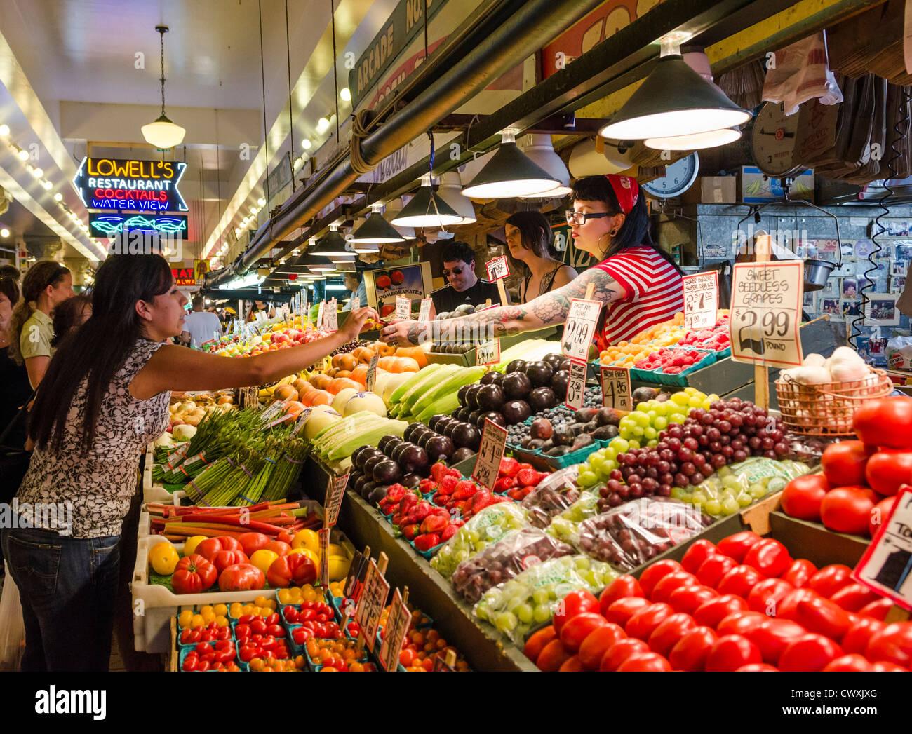 pike place market seattle usa stock photo 50372744 alamy