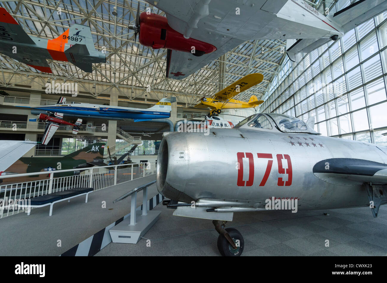 At the Museum of Flight, Seattle, USA - Stock Image