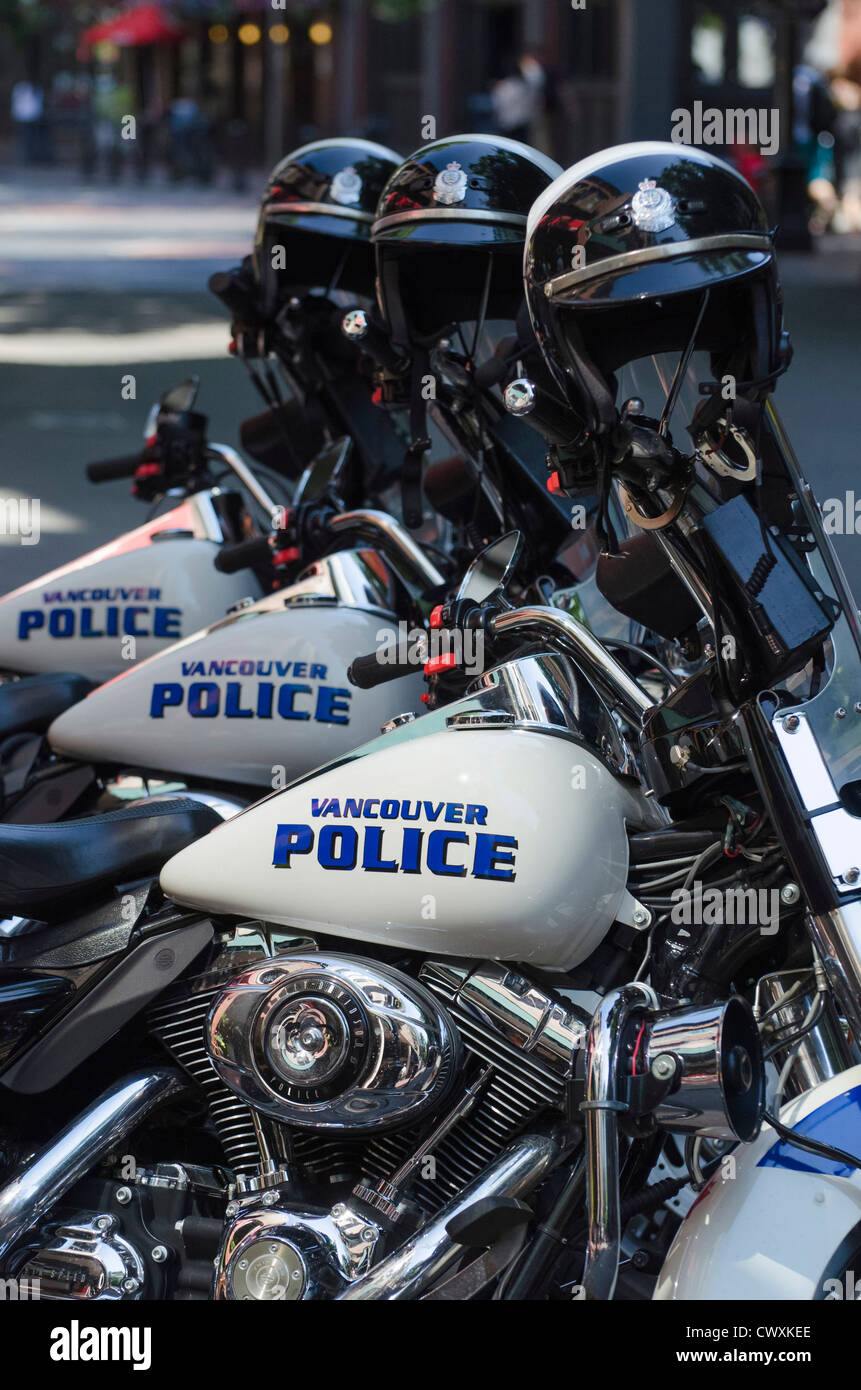 Vancouver Police Department Stock Photos Accessories Vpd 3 Departments Harley Davidson Motorbikes Canada Image
