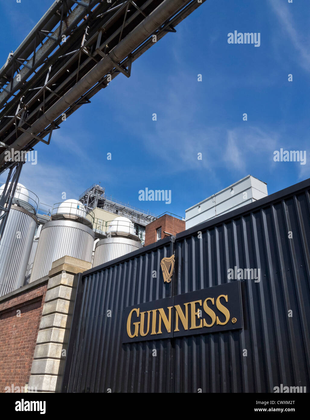 Guinness brewery in Dublin, Ireland - Stock Image