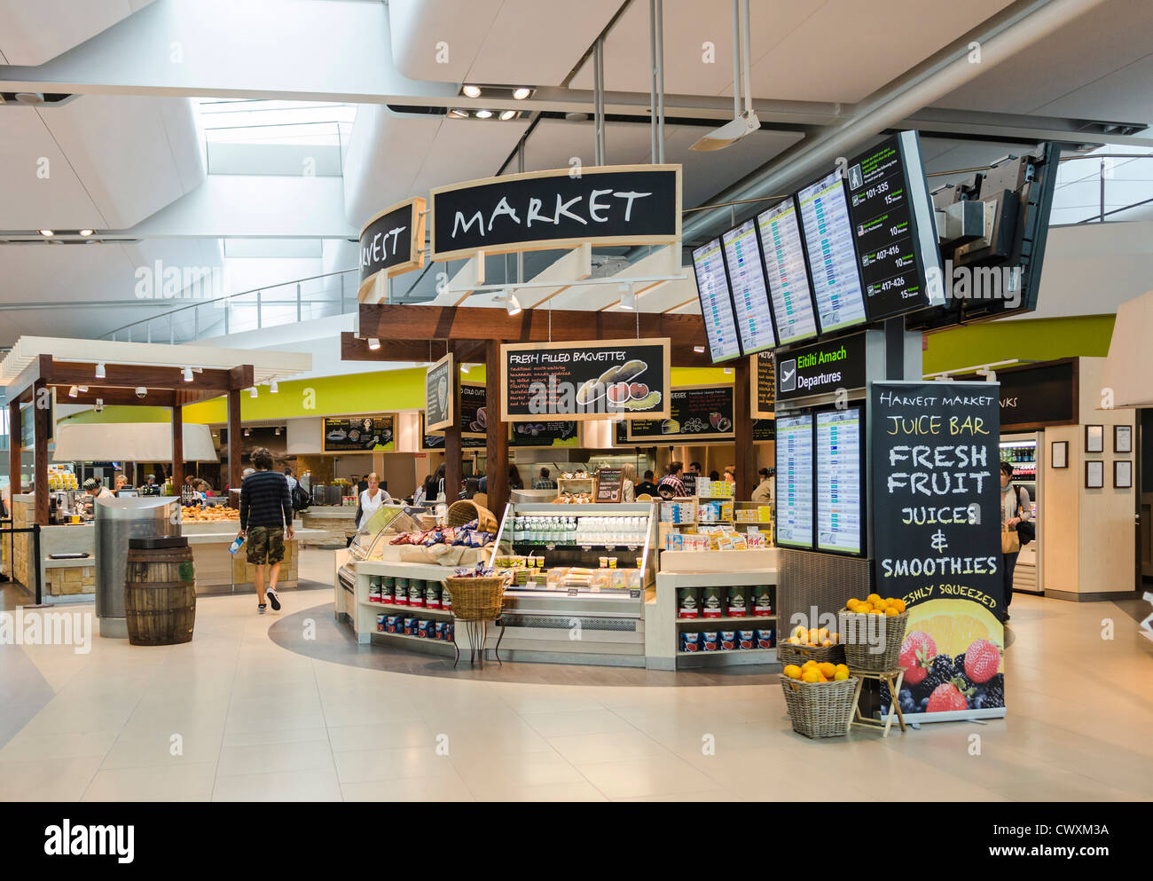 Cafe at Terminal 2, Dublin Airport, Ireland - Stock Image