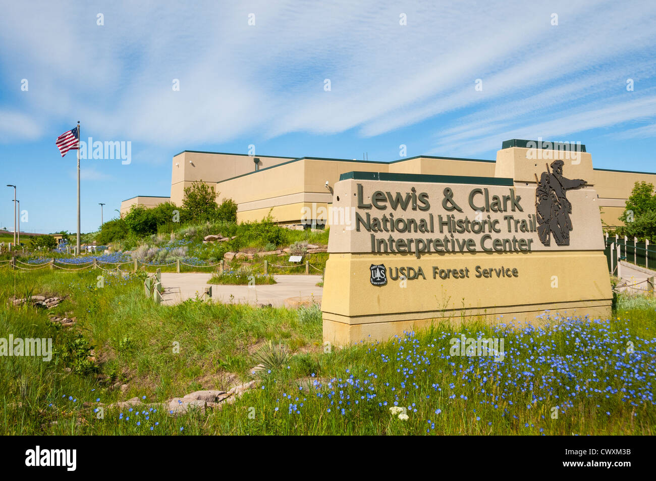 Lewis and Clark National Historic Trail Interpretive Center in Great Falls, Montana. - Stock Image