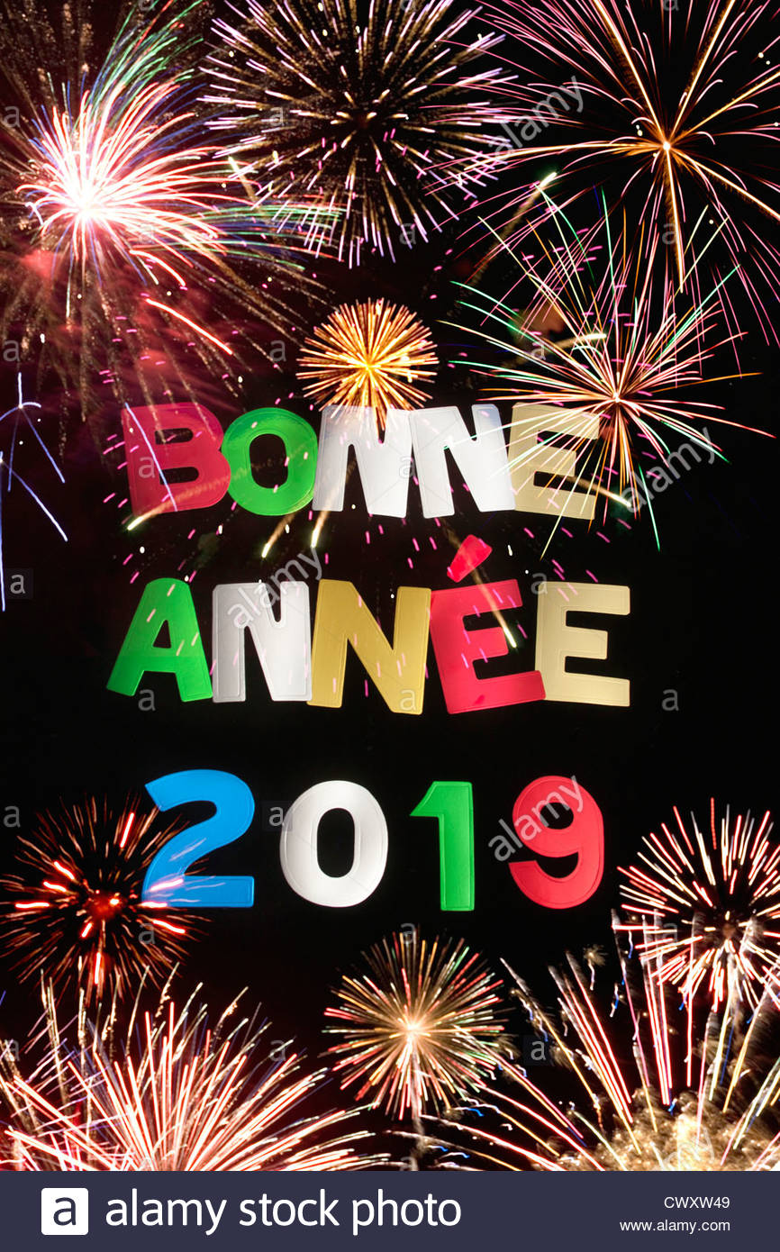 bonne annee 2019 stock photo 50377609 alamy. Black Bedroom Furniture Sets. Home Design Ideas