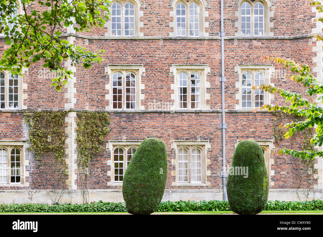 Jesus college, university of Cambridge, England. - Stock Image
