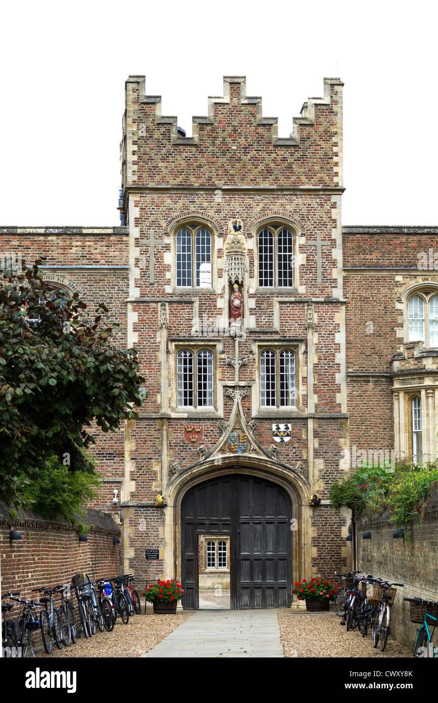 Jesus college, university of Cambridge, England. - Stock Image