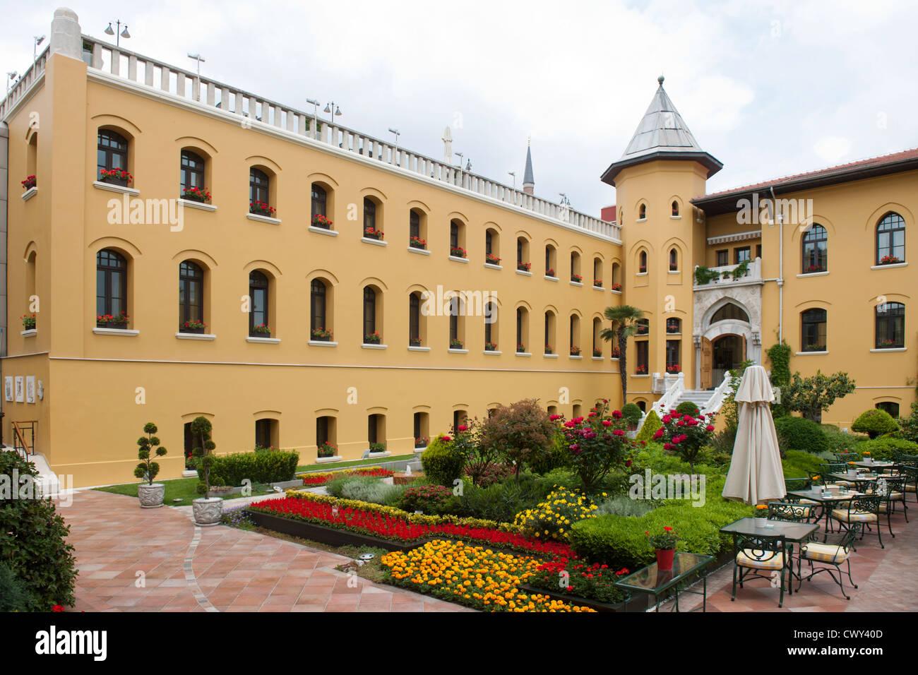 Türkei, Istanbul, Sultanahmet, Four Seasons Hotel Sultanahmet im Gebäude des ehemaligen Gefängnisses - Stock Image
