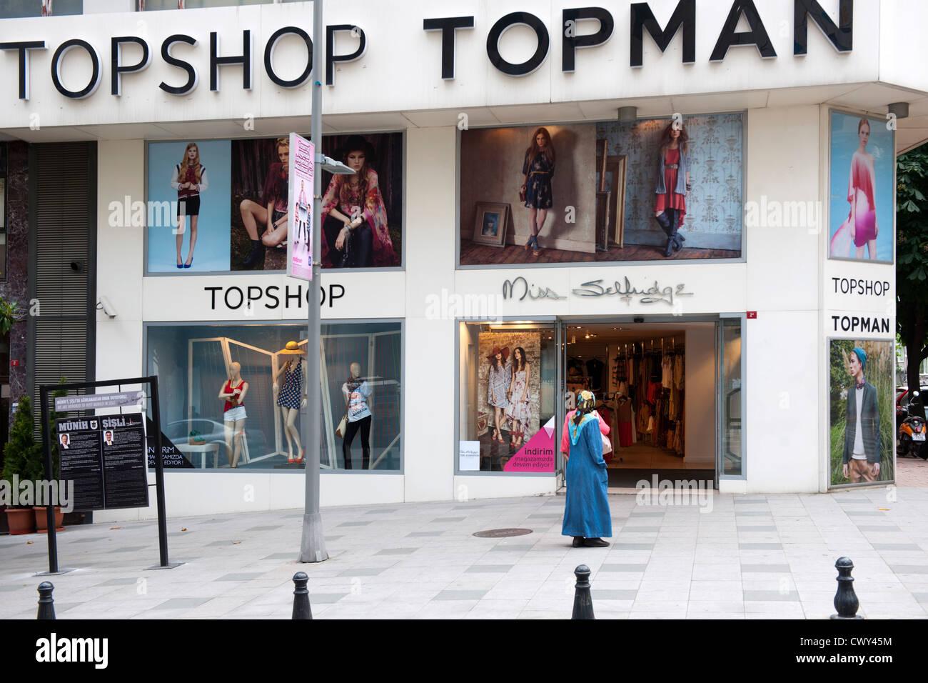 Türkei, Istanbul, Nisantasi, Vali Konagi Caddesi, Topshop Topman, britisches Modelabel - Stock Image