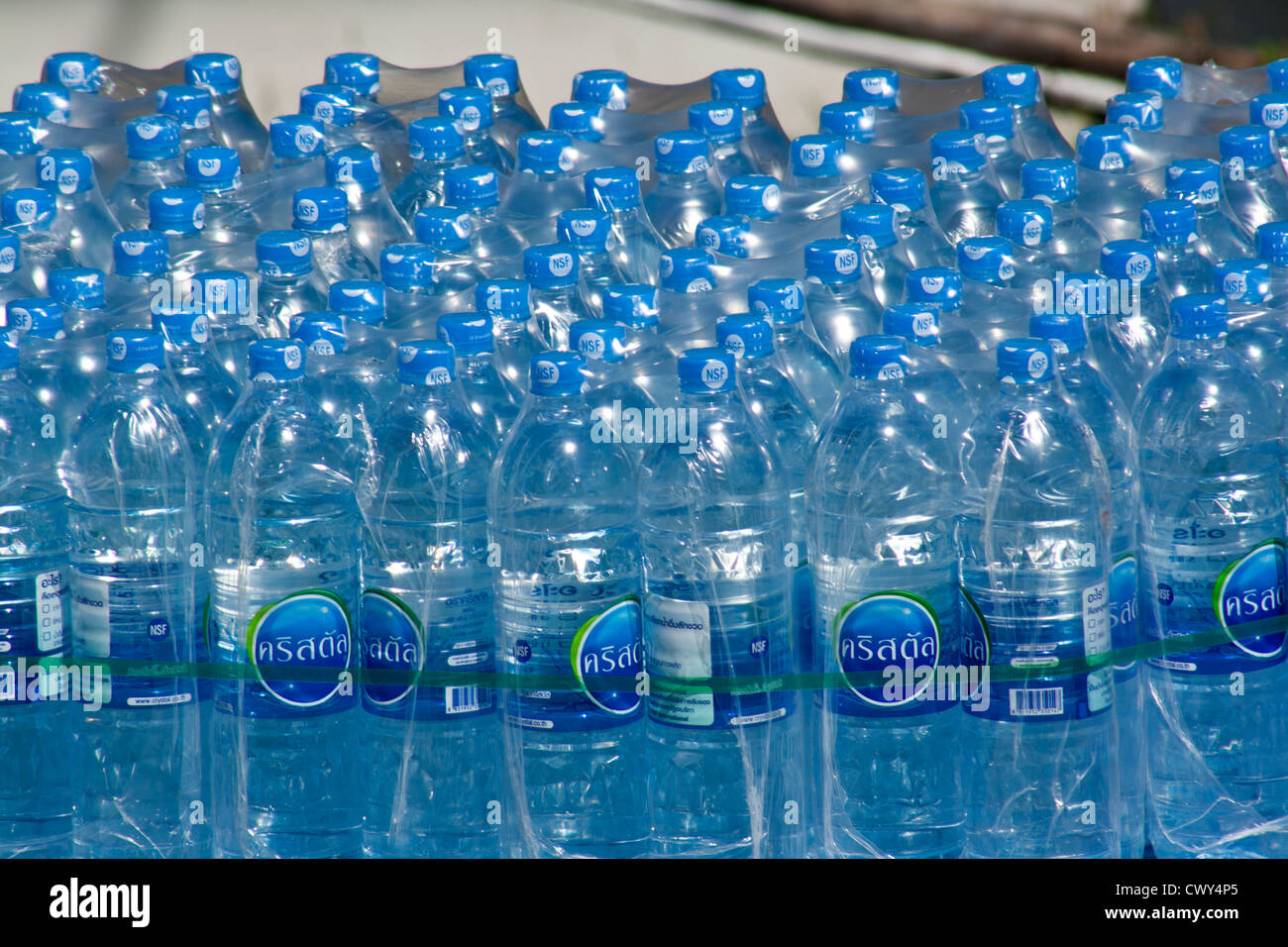 Bottled Water delivery pack - Stock Image