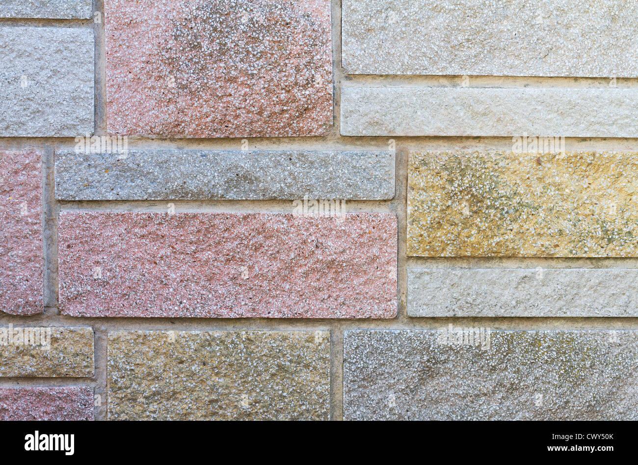 Decorative Stone Cladding On House Wall Stock Photo