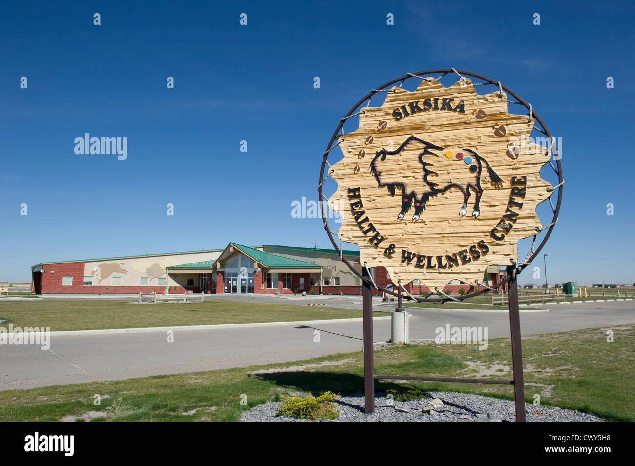 Siksika  Health and Welfare Centre , Siksika Alberta Canada - Stock Image