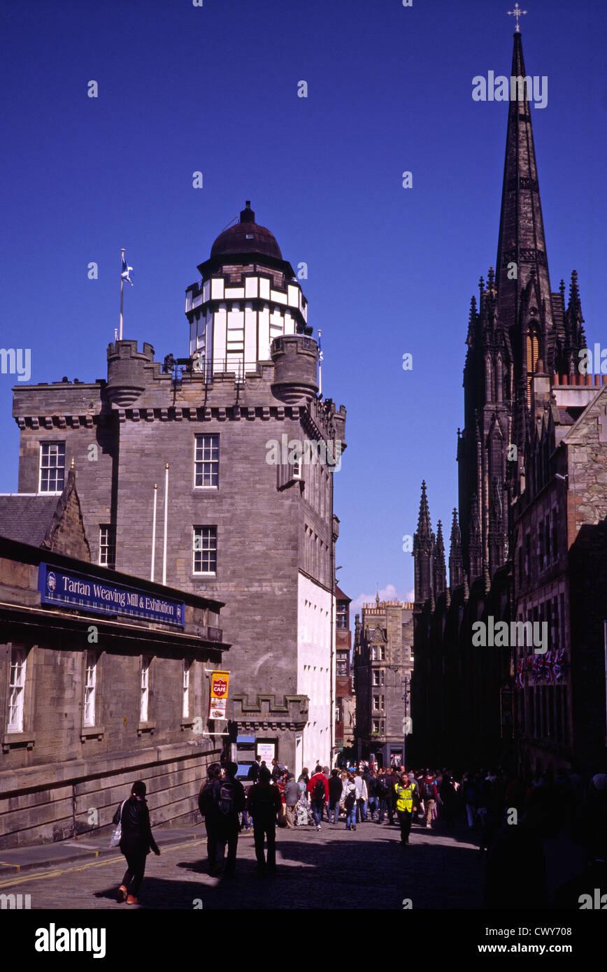 Castlehill, Royal Mile, Old Town, Edinburgh, Scotland, UK - Stock Image