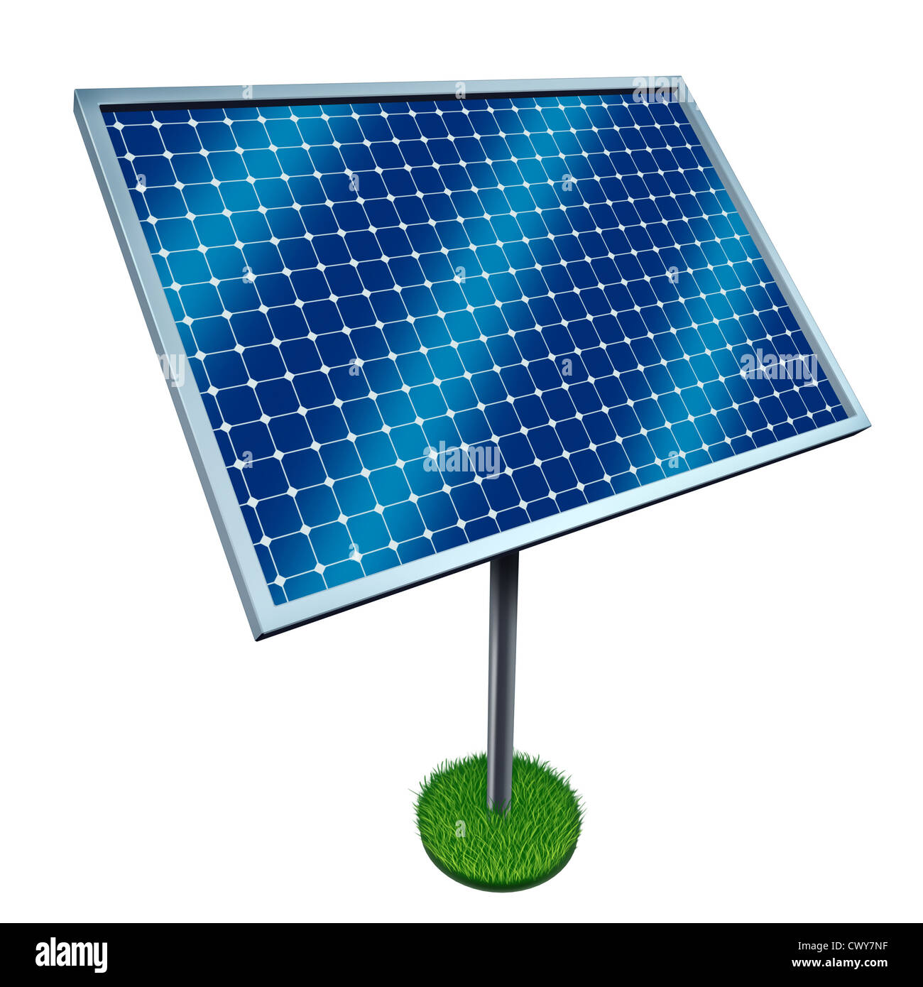 Renewable Energy And Solar Panels On A White Background As A Symbol
