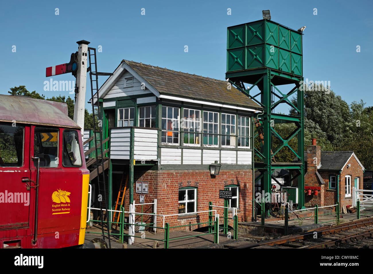 The Colne Valley & Halstead Railway, preserving a small fragment of Britain's steam train heritage. - Stock Image