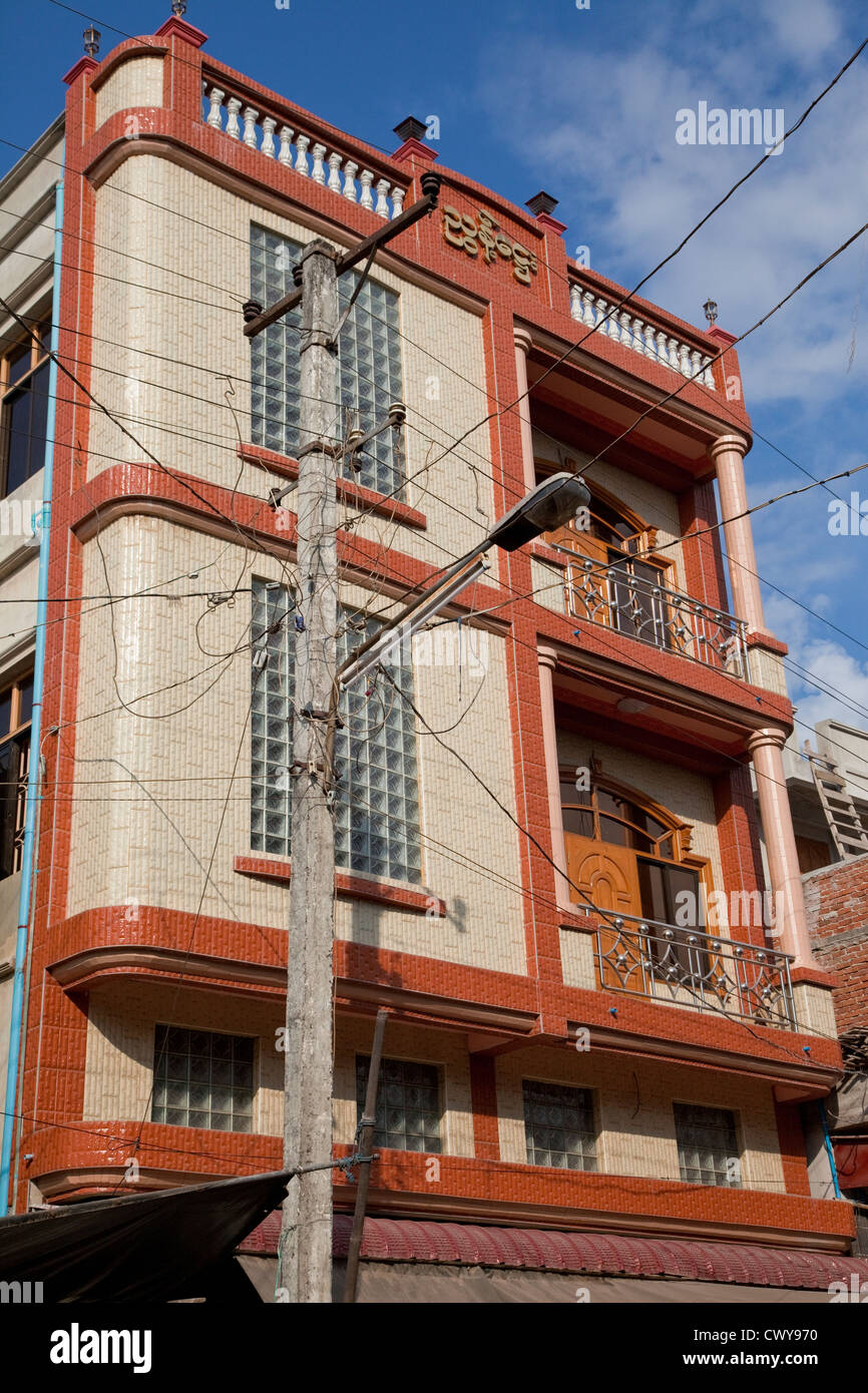 Modern Myanmar Stock Photos Images Alamy Residential Wiring Haphazard Electric Office Building