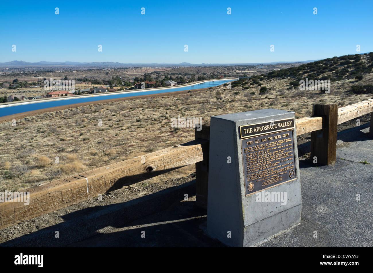 Antelope Valley, California site of many aerospace records. - Stock Image