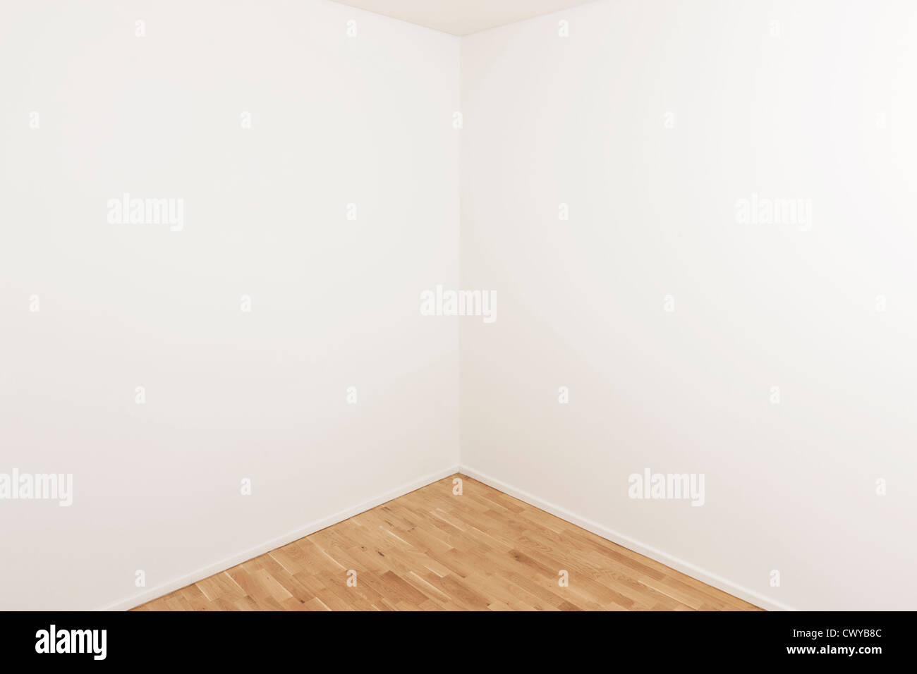 Empty corner in a modern apartment with plenty of copy space - Stock Image
