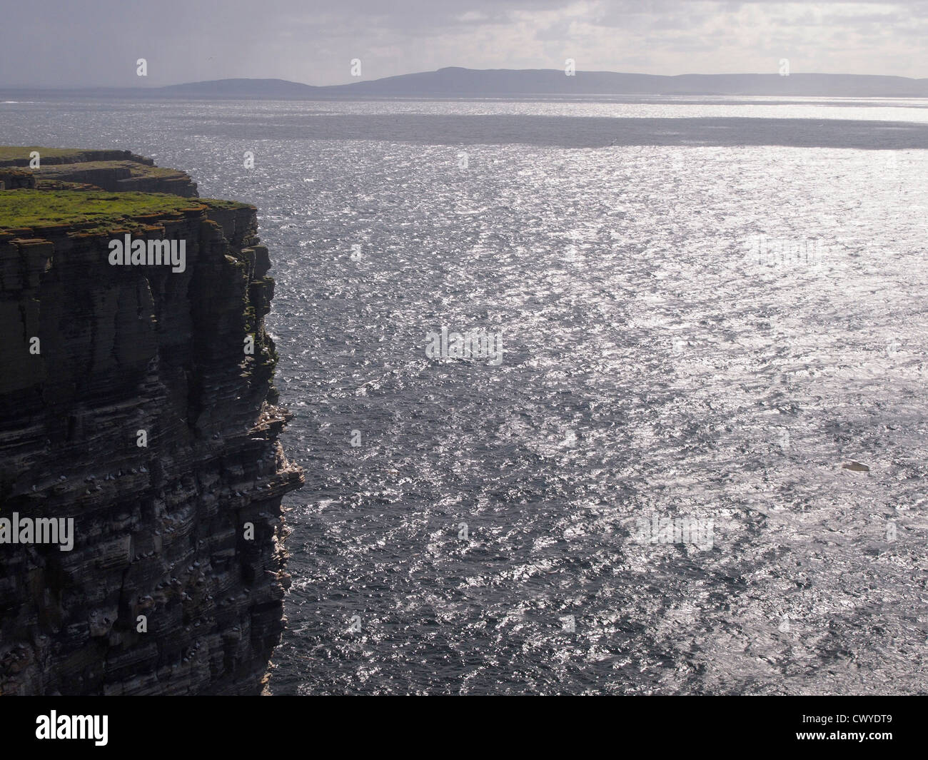 View towards Rousay from Westray, Orkney - Stock Image