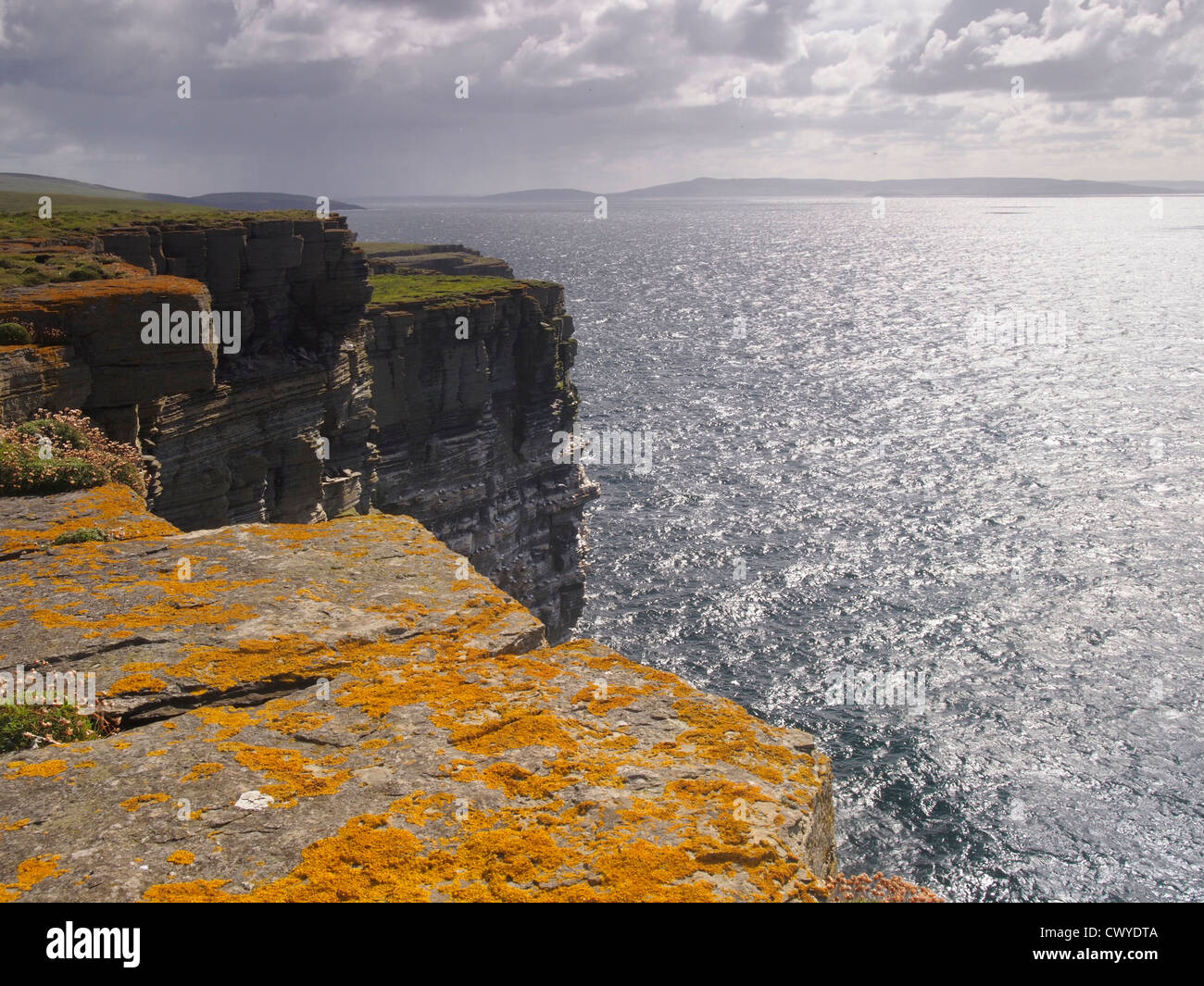 View towards Rousay from Westray, Orkney, Scotland - Stock Image