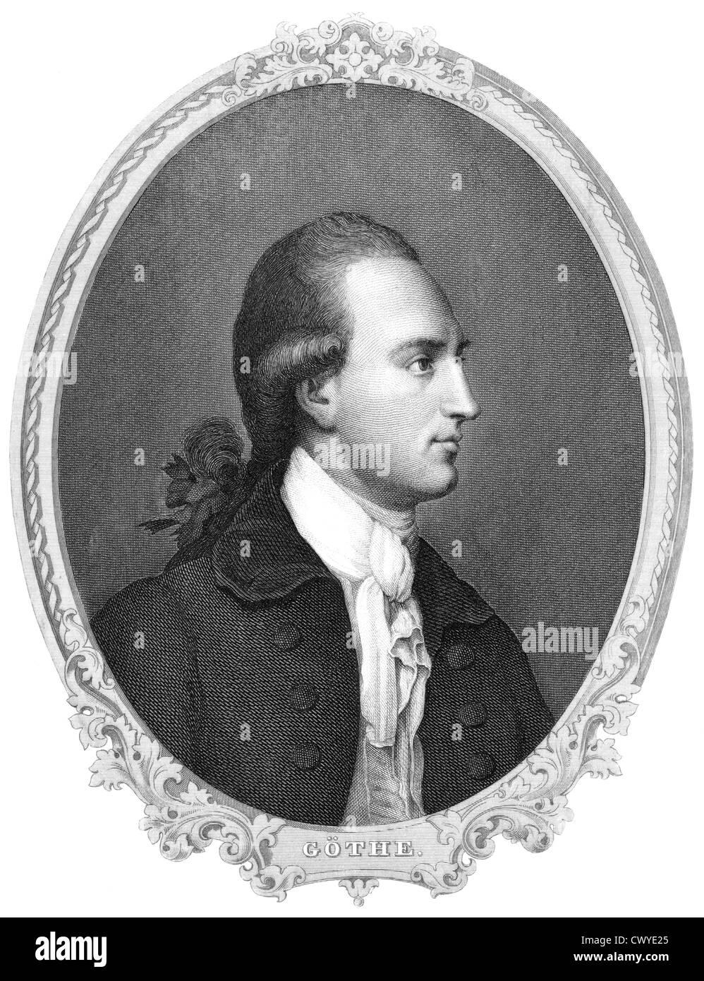 Johann Wolfgang von Goethe, 1749 - 1832, a German poet Stock Photo