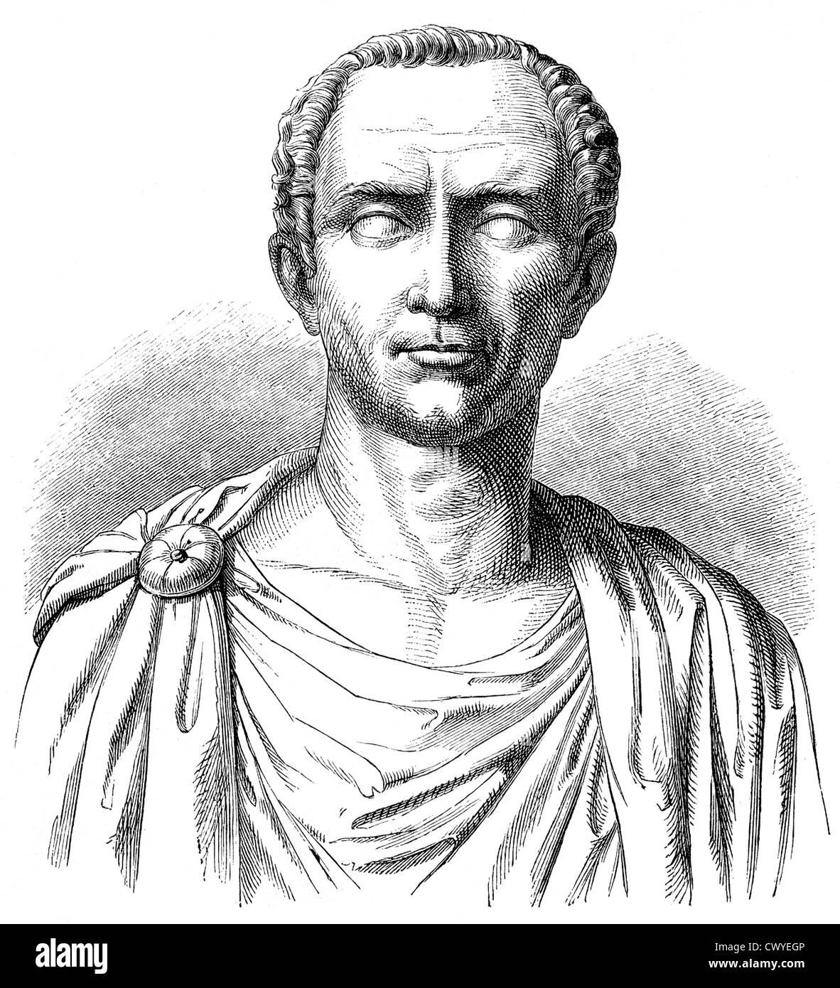Gaius Julius Caesar, 100-44 BC, Roman statesman, military commander and author, - Stock Image
