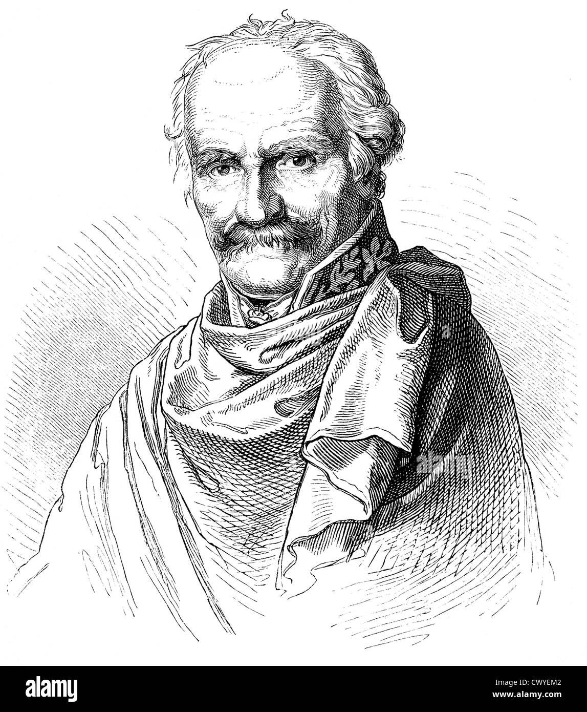 Gebhard Leberecht von Bluecher, Prince of Wahlstatt or Marshal Forward, 1742 - 1819, a Prussian Field Marshal, Stock Photo