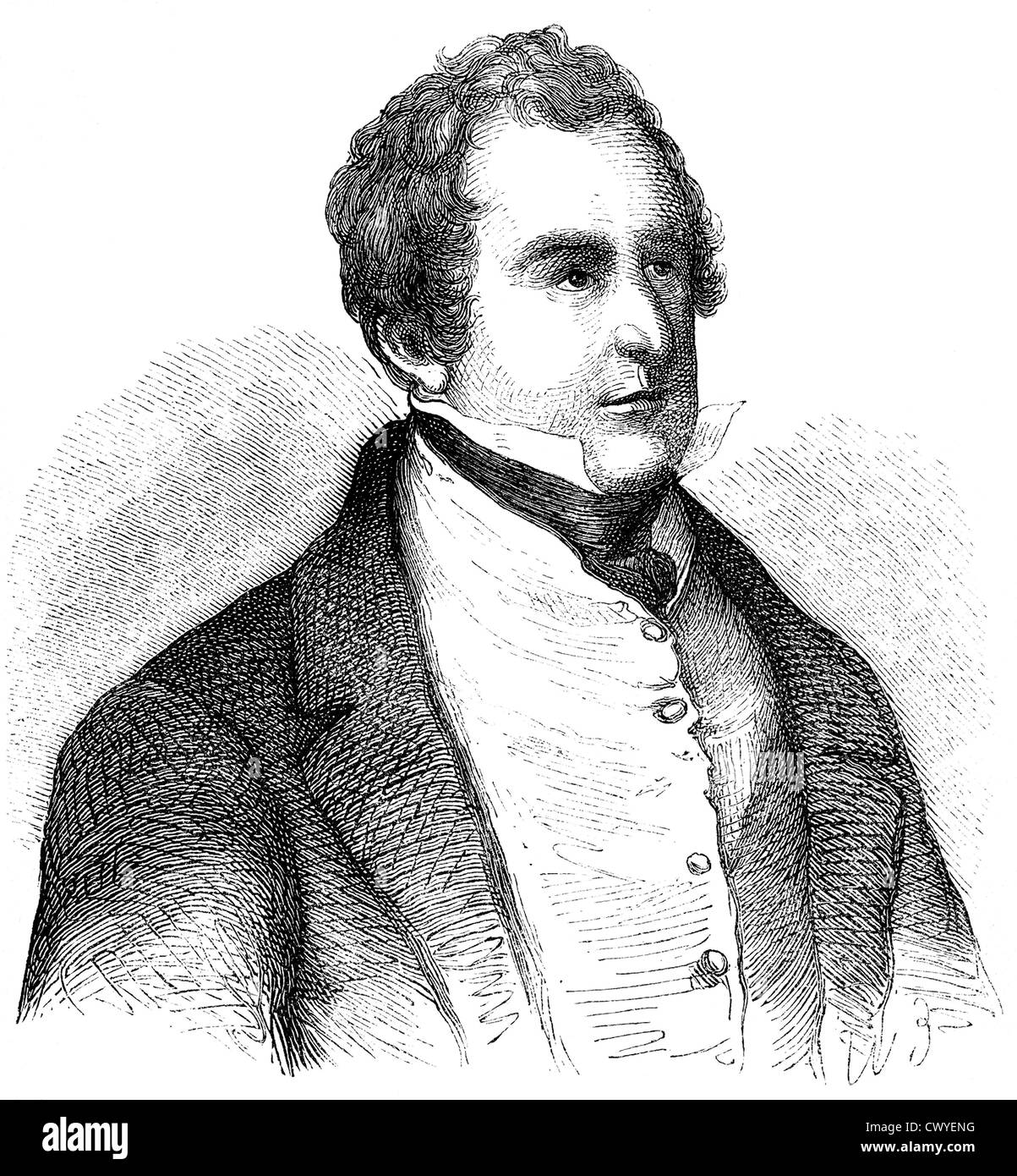 Sir Robert Peel, 1788 - 1850, 2nd Baronet Peel of Clanfield, British politician, prime minister and founder of the - Stock Image