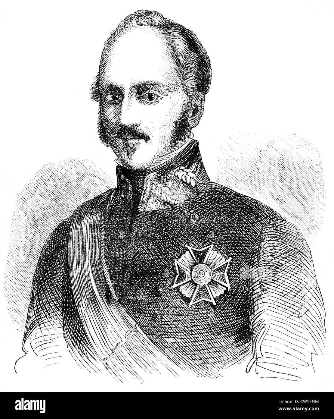 Joaquin Baldomero Espartero Fernández Álvarez de Toro, 1792 - 1879, Spanish Prime Minister and Regent, Duke de la Stock Photo