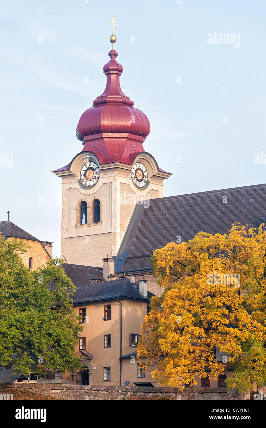 Collegiate church Nonnberg, Salzburg, Austria - Stock Image