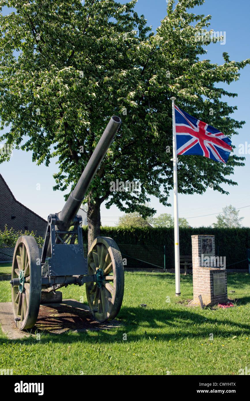 The ww1 memorial at St.Eloi crossroads, Flanders, Belgium - Stock Image