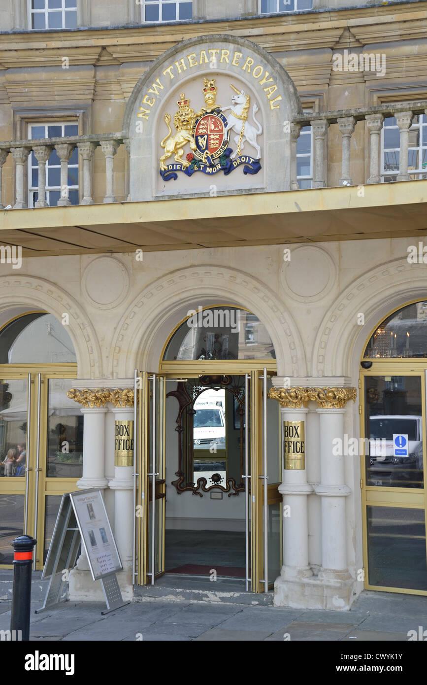 Entrance to box office, New Theatre Royal, Sawclose, Bath, Somerset, England, United Kingdom Stock Photo