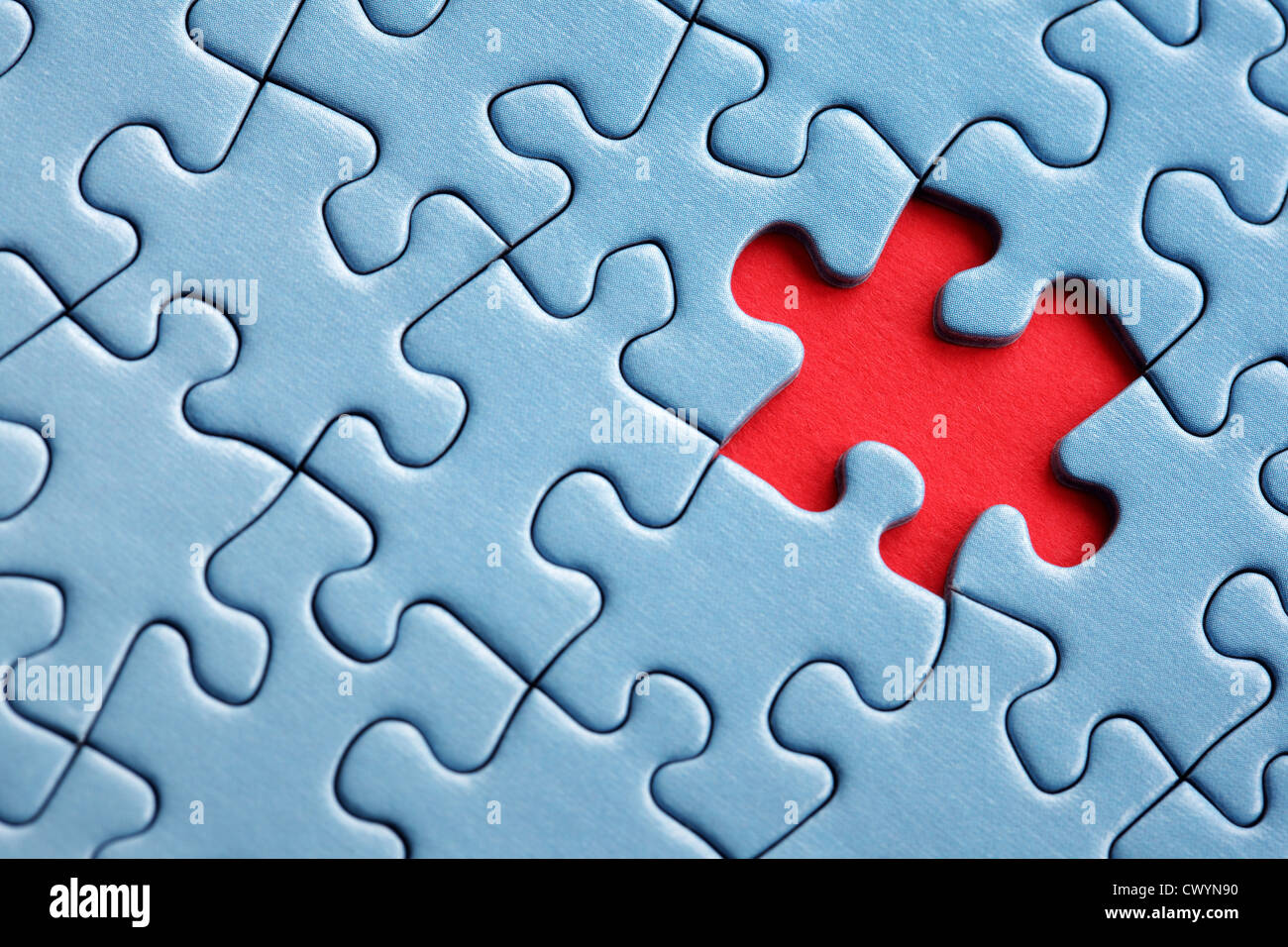 Last piece of the puzzle - Stock Image