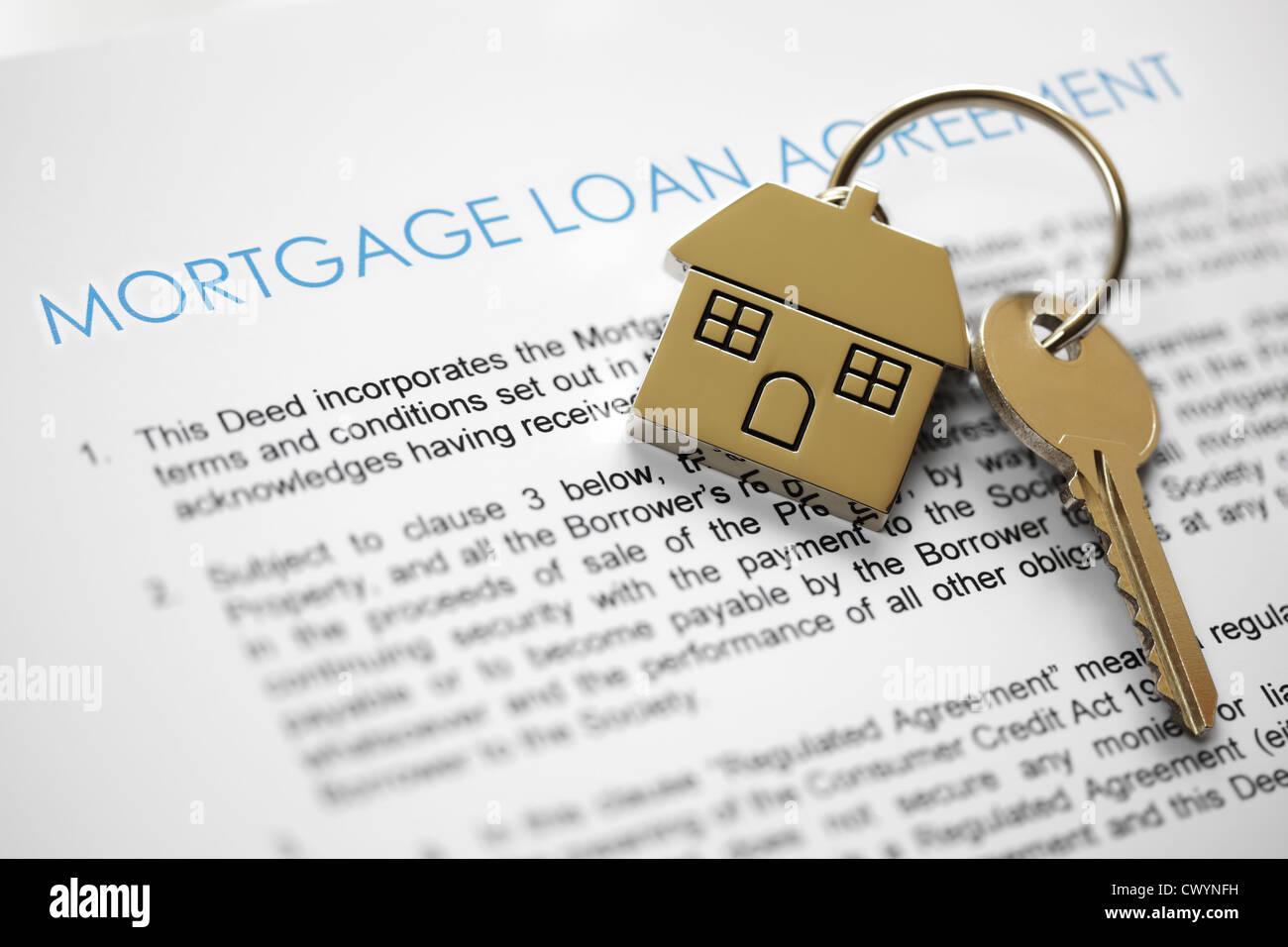Mortgage application - Stock Image