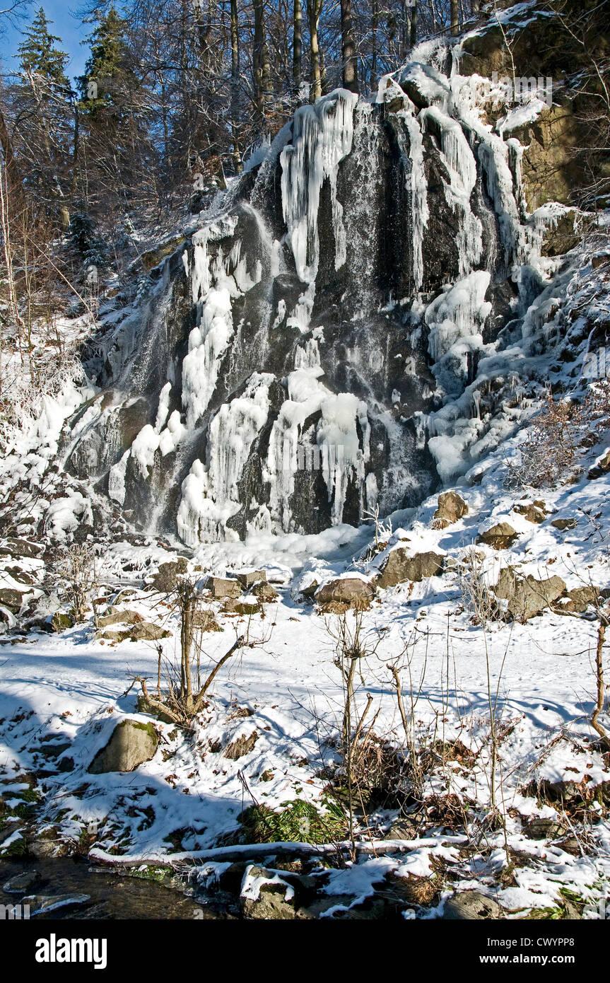 Radau waterfall, Harz, Lower Saxony, Germany, Europe - Stock Image