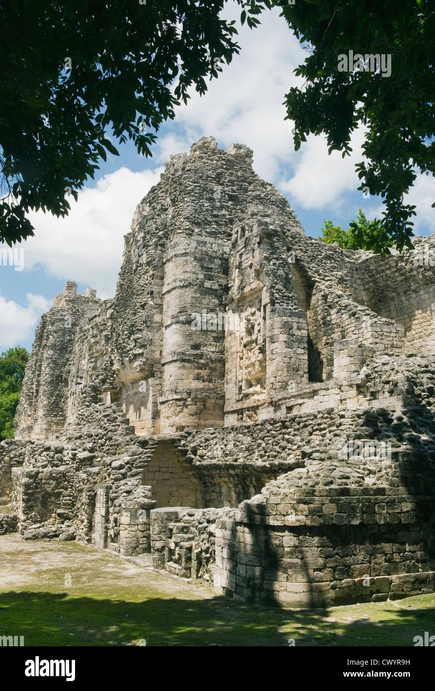 Maya Ruins of Hormiguero near Calakmul Biosphere Reserve, Yucatan Peninsula MEXICO Stock Photo