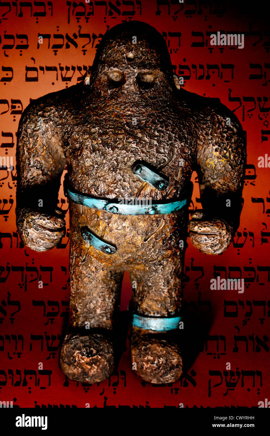 replica of Golem, Hebrew traditional protector - Stock Image